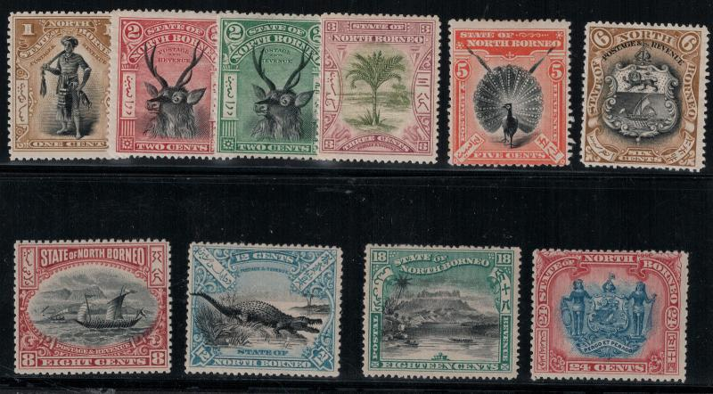 North Borneo 1897-1900 79-88 LH CV$482