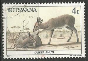 BOTSWANA, 1987, used 4t, Wildlife Conservation, Scott 407