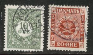 DENMARK  Scott 178-179 used