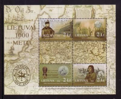 Lithuania Sc 816 2006 1000th Anniversary stamp sheet mint NH