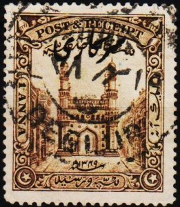 India(Hyderabad). 1934 1a S.G.O48 Fine Used