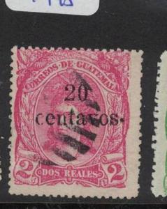 Guatemala SC 20 VFU (1dqn)