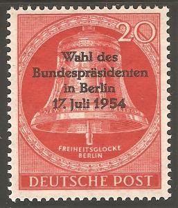 GERMANY BERLIN Sc# 9N106 MNH FVF Freedom Bell Wahl ovrprnt