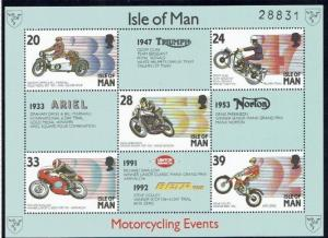 Isle of Man: 1993, Manx Motor Cycling Events, M/S, Mnh