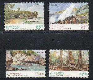 Christmas Island Sc 350-53 1993 Scenic Views stamp set mint NH