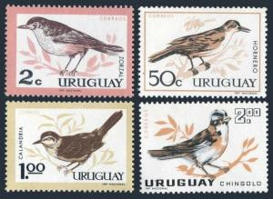Uruguay 695-698,MNH.Michel 955-958. Birds 1963.Thrush,Iverbird,Mockinbird,