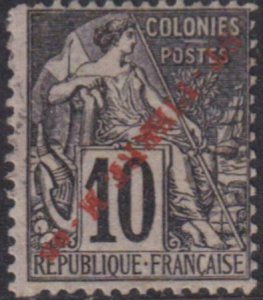 St. Pierre 1891 SC 27a Var Used Inverted Ovpt