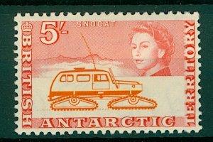 British Antarctic Territory QEII 1963 5/- Snocat sg13 (1v) Mint Stamp