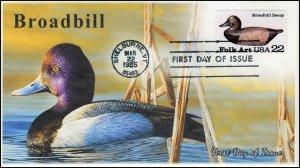AO-2138, 1985, Duck Decoys, , Broadbill, Add-on Cachet, SC 2138, Scaup