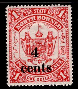 North Borneo Scott 132 Surcharged 1904 stamp