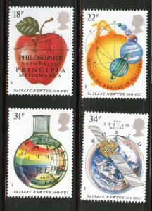 Great Britain Scott 1172-75 MNH** 1987 Newton set