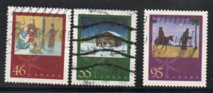Canada Sc 1873-75 2000  Christmas  stamp set  used