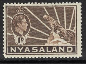 NYASALAND SG131 1938 1d BROWN MTD MINT