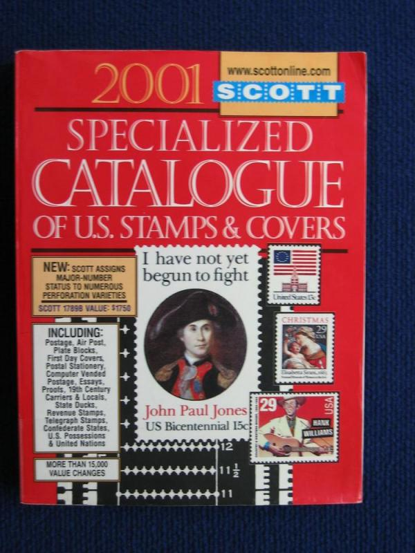 2001 Scott's U.S. Specialized Catalogue of Stamps & Covers