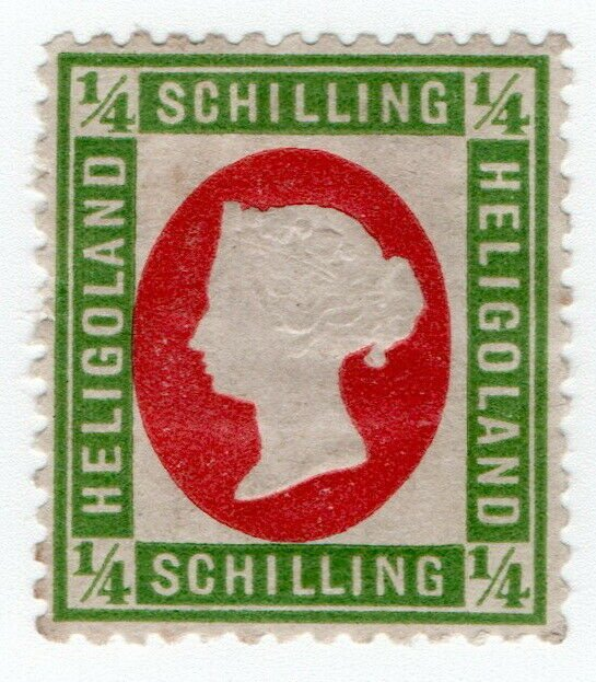 (I.B) Heligoland Postal : Definitive Head ¼sch