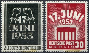 Berlin   Sc.# 9N99-100 MNH**        Mi.# 110-1 postfrisch