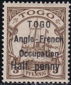 Togo 1914 SC 33 / YV 31 Mint Signed Roumet RARE