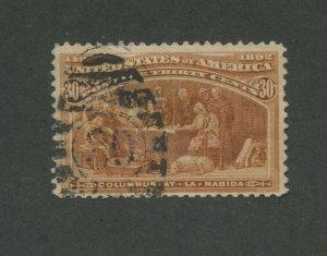 1893 United States Postage Stamp #239 Used F/VF Postal Cancel