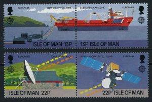 1988 Isle of Man 367-370Paar Europa CEPT / Satellite
