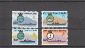 Tristan da Cunha MNH 216-9 Naval Ships & Crests 1977