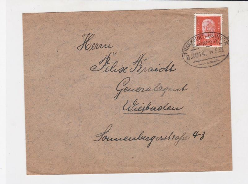 german 1932 bahnpost railway cancel stamps cover  ref 18826