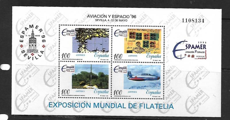 SPAIN, 2851, MNH, SS, PHILATELIC EXHIBITION