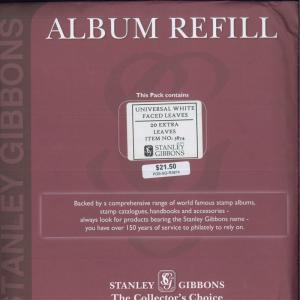 Stanley Gibbons Universal Quadrille Pages Glassine Interleaves Refill R3874