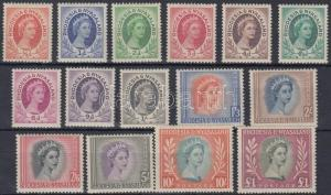 Rhodesia and Nyasaland stamp Definitive set (Mi 4 missing) Hinged 1954  WS195526