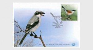 2010  ESTONIA  -  SG: 620  - SHRIKE  - BIRD  FIRST DAY COVER