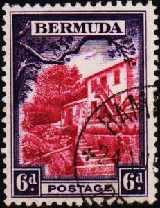 Bermuda. 1936  6d  S.G.104 Fine Used