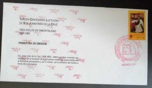 O) 1995 MEXICO, SR JUANA INES DE LA CRUZ  WRITER, FDC XF