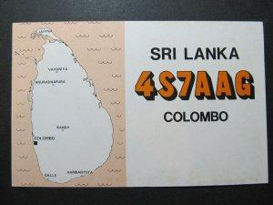 5328 Amateur Radio QSL Card Sri Lanka Colombo
