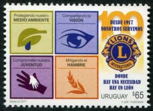 HERRICKSTAMP NEW ISSUES URUGUAY Lions Club