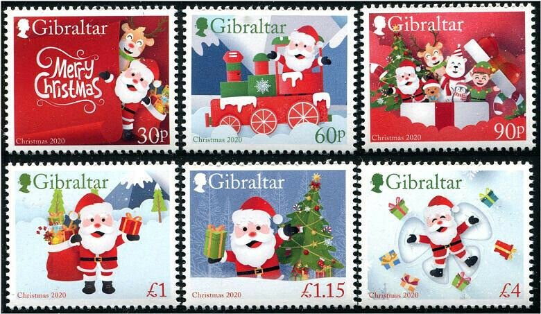 HERRICKSTAMP NEW ISSUES GIBRALTAR Christmas 2020 Self-Adhesive