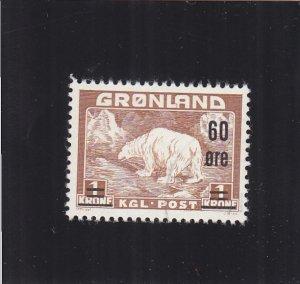 Greenland: Sc #40, Used, Very Light Cancel (S18981)