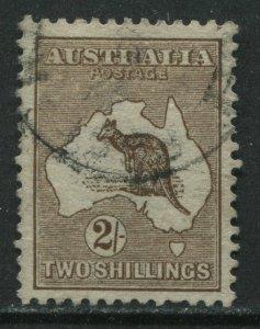 Australia 1913 2/ brown Roo used