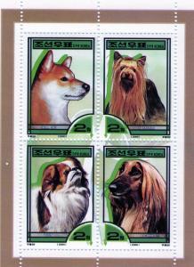 North Korea 2000 Dogs (4) MNH Sc#3963
