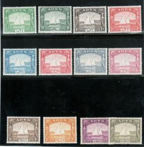Aden #1 - #12 Extra Fine Mint Lightly Hinged Set