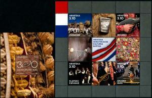 HERRICKSTAMP NEW ISSUES CROATIA Cultural Heritage 2015 Stamp Souvenir Sheets