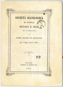 62971 -  ITALY - VINTAGE BOOKLET: SILK WORM COMPANY Casale 1860