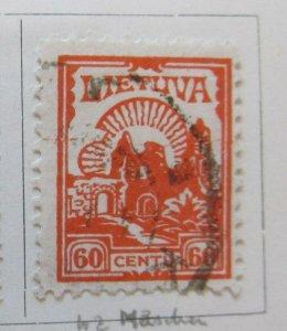 A11P5F43 Litauen Lituanie Lithuania 1923 Wmk Webbing 60c used