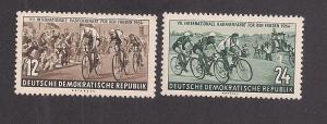 GERMANY - DDR SC# 208-9 F-VF MNH 1954