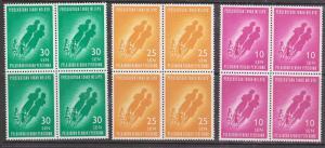 Malaya - 1962 Education Set in Blocks of 4 VF-NH Sc. #208-21