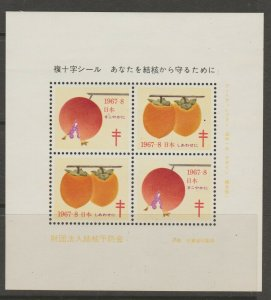Japan Cinderella seal TB Charity revenue stamp 5-03-14 mint
