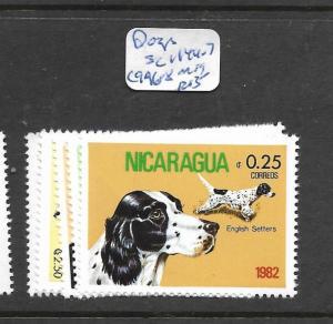 NICARAGUA  (PP1804B) DOGS SC 1144-7 , C 996-8    MOG