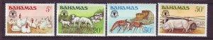 J24193 JLstamps 1981 bahamas set mh #500-3 animals