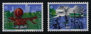 Switzerland 808-9 MNH EUROPA, Sculpture, Carnival Fountain