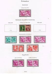 Switzerland Stamp tête-bêche head-to-tail STAMPS COLLECTION LOT  #2