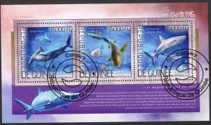 Guinea 2014 Fishes Sharks Sheet Used / CTO