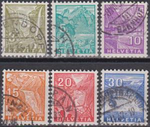 Switzerland #219-23, 225 F-VF Used CV $9.45 (B7874)